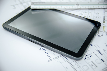 blank tablet: tablet and architectural construction design document tools