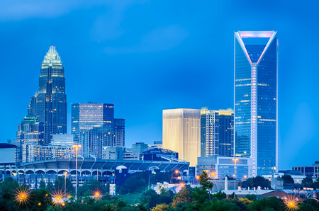 carolina: looking at charlotte the queen city financial district