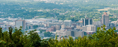 roanoke virginia city skyline Stock Photo