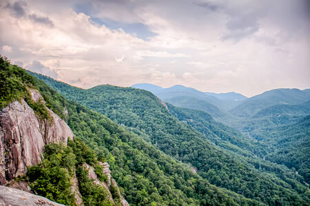 View from top of Chimney Rock near Asheville, North Carolina photo