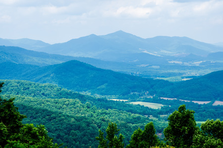 blue ridge parkway in west virginia Stock Photo