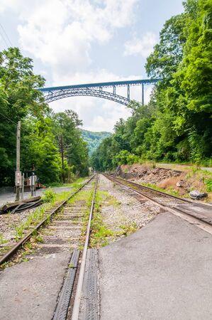 west virginia trees: West Virginias New River Gorge bridge carrying US 19