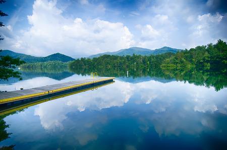lake santeetlah in great smoky mountains Stock Photo