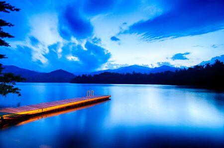 great smoky mountains: lake santeetlah in great smoky mountains Stock Photo