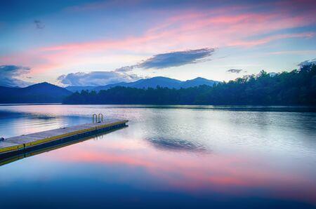 lake santeetlah in great smoky mountains photo