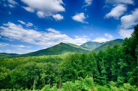 carlos: carlos campbell overlook in great smoky mountains Stock Photo