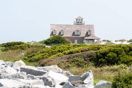 life saving: The restored Oregon Inlet Life Saving Station stands on the North Carolina Outer Banks coast at Pea Island National Wildlife Refuge