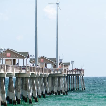 nags: Pier de Jennette en Nags Head, Carolina del Norte, EE.UU..