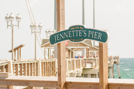 Jennettes Pier in Nags Head, North Carolina, USA.