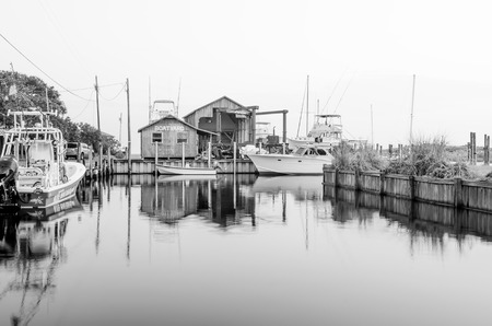 outer banks: boat yard marina on outer banks nc