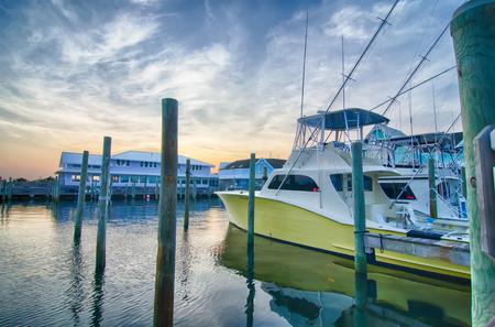 big game fishing: View of Sportfishing boats at Marina early morning