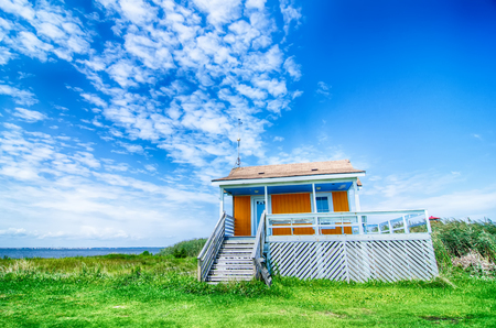outer banks: lonely beach hut at outer banks nc