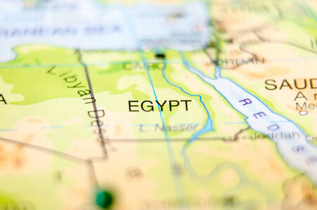 egypt country on map