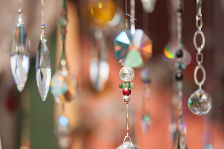 abstract crystals hanging and sparkling dangling background Stock fotó - 31458740