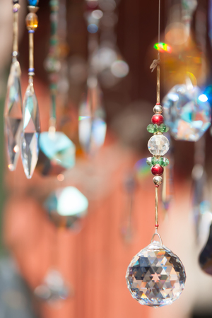 abstract crystals hanging and sparkling dangling background Stock fotó - 31458741