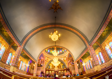 patriarchal: Charlotte, nc, September 7, 2014 - interior of  Holy Trinity Greek Orthodox Cathedral Charlotte nc