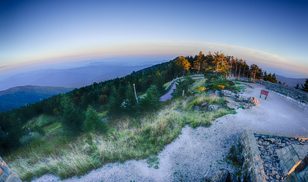 top of mount mitchell before sunset photo