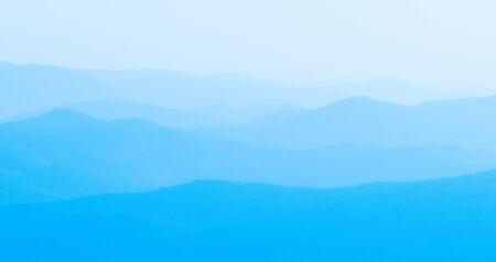 smoky mountains: Panorama  of mountain ridges silhouettes
