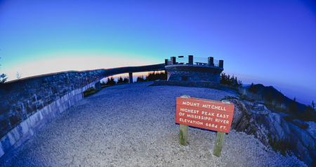 top of mount mitchell after sunset photo