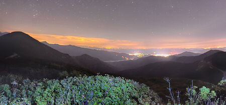 craggy: View of the Appalachians from Craggy Pinnacle near the Blue Ridge Parkway North Carolina at night