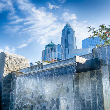 charlotte: Financial skyscraper buildings in Charlotte North Carolina USA