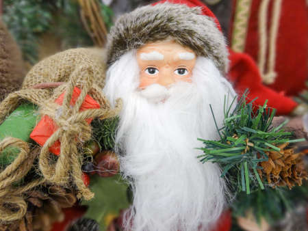 stylistic embellishments: santa claus figure toy ready for holidays
