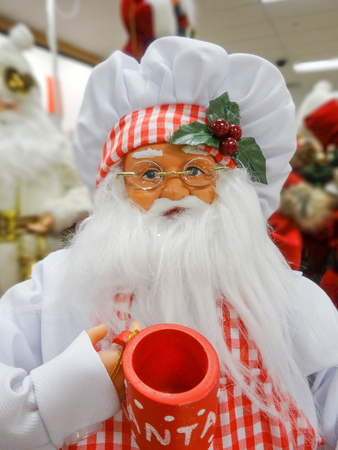 santa claus figure toy ready for holidays