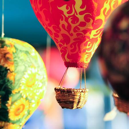 hot air balloons hanging handmade decorations