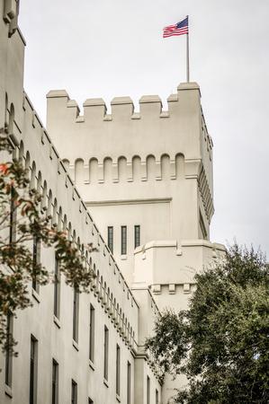 millitary: The old Citadel capus buildings in Charleston south carolina Editorial