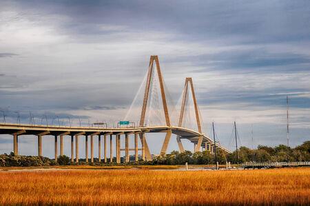 arthur: The Arthur Ravenel Jr. Bridge that connects Charleston to Mount Pleasant in South Carolina.