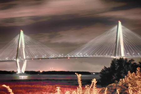 cooper: The Arthur Ravenel Jr. Bridge that connects Charleston to Mount Pleasant in South Carolina.
