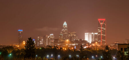 qc: charlotte north carolina city skyline