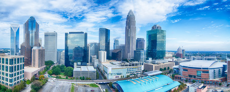 to the north: charlotte north carolina city skyline