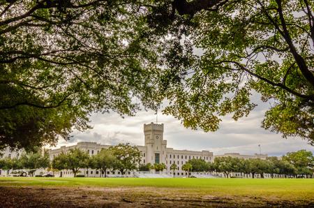 citadel: The old Citadel capus buildings in Charleston south carolina Editorial