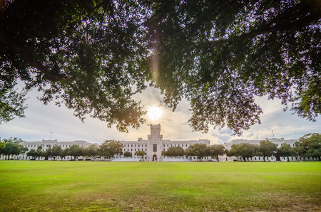 The old Citadel capus buildings in Charleston south carolina Editorial