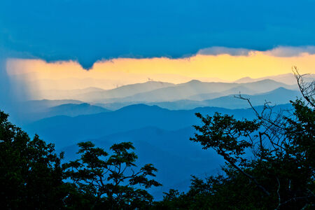 sunset on the Blue Ridge Parkway in North Carolina photo