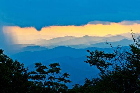 north ridge: sunset on the Blue Ridge Parkway in North Carolina Stock Photo