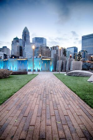 uptown: new Romare-Bearden park in uptown Charlotte North Carolina
