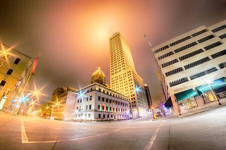 tulsa city skyline around downtown 新聞圖片