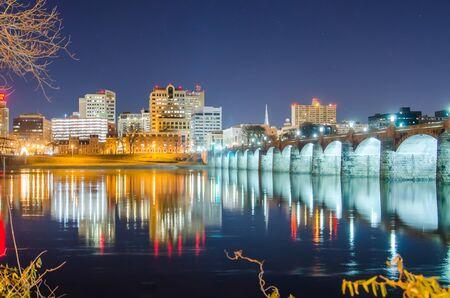 harrisburg pennsylvania skyline at night