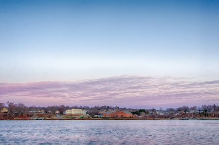 eg: Greenwich Bay Harbor Seaport in Rhode Island Stock Photo
