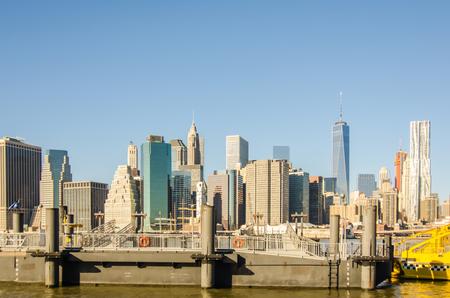 surroundings: new york city skyline and surroundings Stock Photo