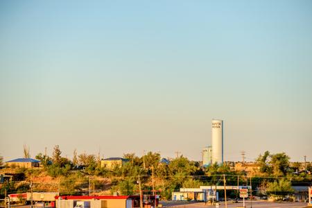 town of santa rosa new mexico at sunrise