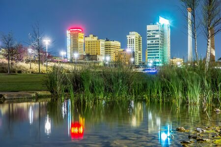 birmingham: Skyline of Birmingham Alabama from Railroad Park