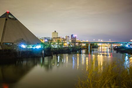 April 2015 - Panoramic view of the Pyramid Sports Arena in Memphis TN