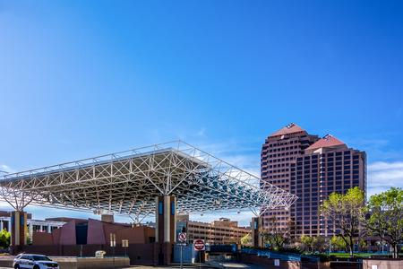 new mexico: city center of downtown Albuquerque new mexico