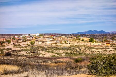 laguna pueblo town site in new mexico 版權商用圖片 - 38916830