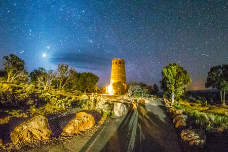watchtower: Watchtower Over the Grand Canyon   Arizona Stock Photo