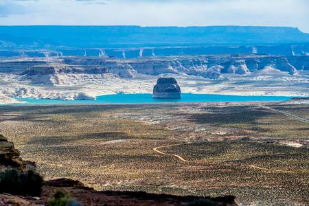 Lone Rock in Lake Powell Utah