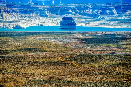 lake powell: Lone Rock in Lake Powell Utah